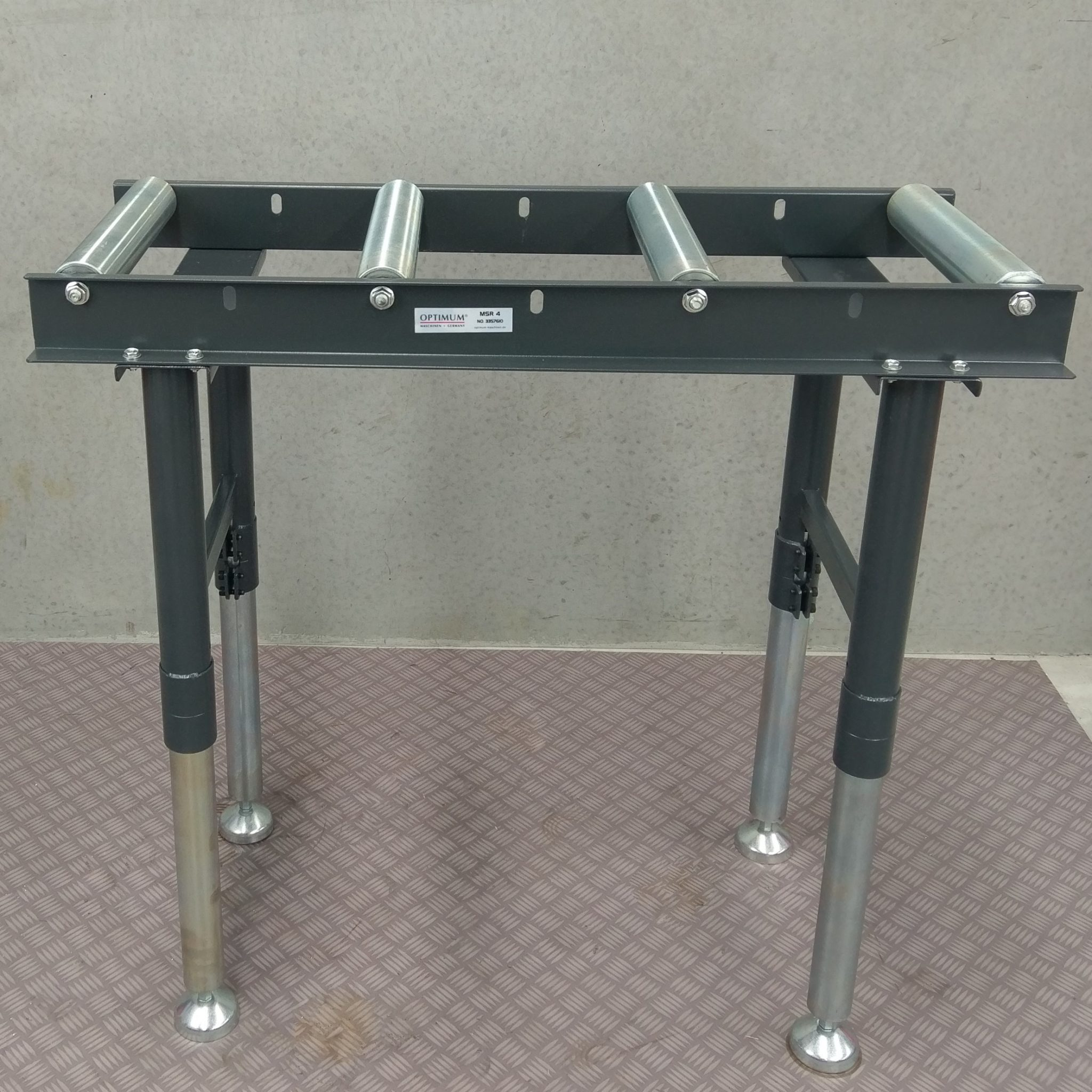 Optimum Conveyor Roller Stand Table Band Drop Cold Saw Packaging Convey Material Metal