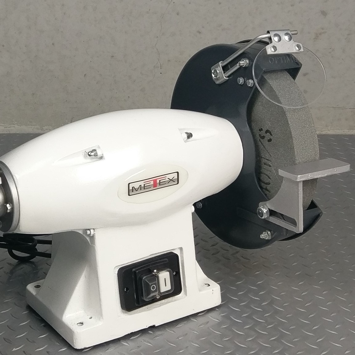 Metex 200mm Combo Bench Grinder Linisher Belt Sander With