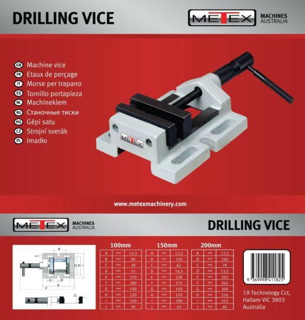 100mm-150mm-200mm-Drilling-Vice-METEX-Milling-Drill-Mill-Lathe-Metal-Wood-Work-282389800490