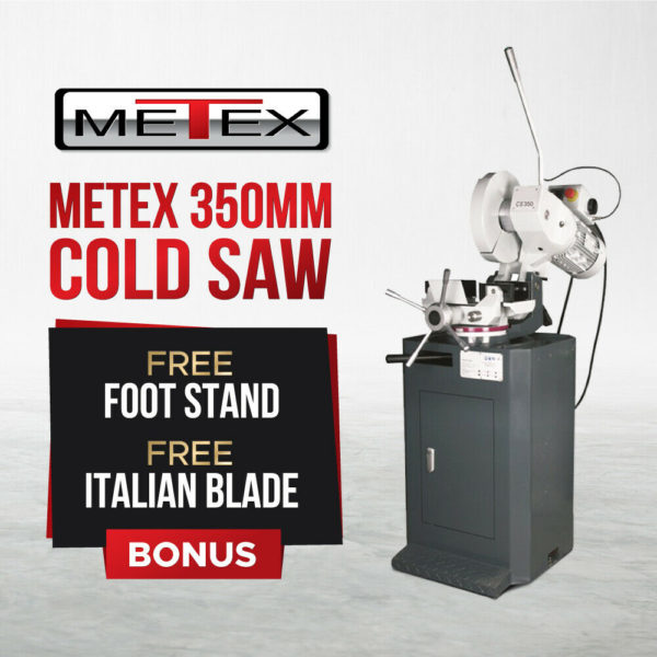 Cold-Saw-with-Stand-METEX-Industrial-350mm-Italian-Blade-Drop-Cut-Sawing-Metal-272552088930