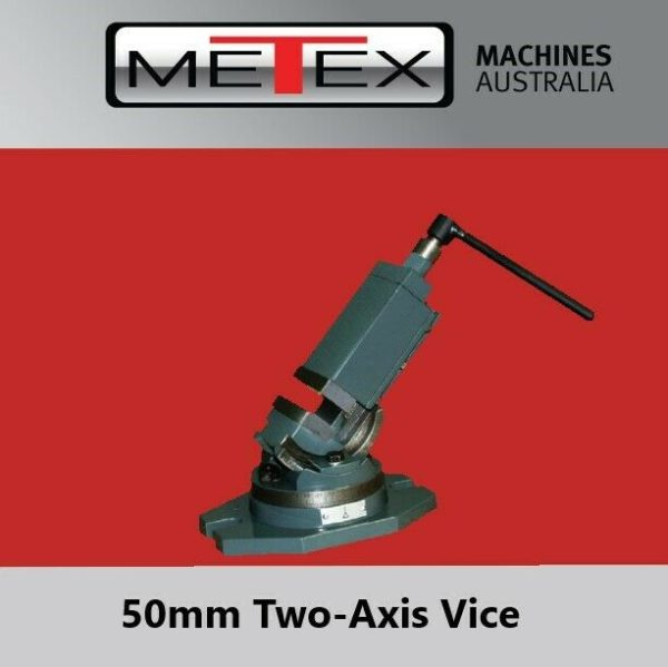 Milling-Machine-Vice-50mm-METEX-Bi-Axis-Two-Way-Swivel-Base-Tilting-Metal-Work-273132859061