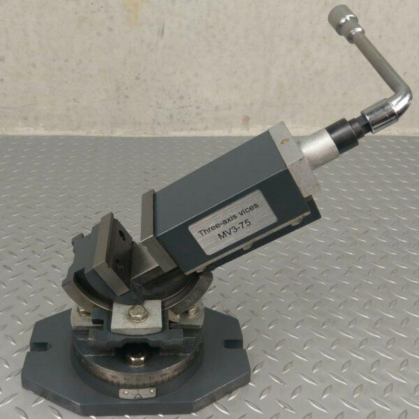 Milling-Machine-Vice-75mm-Three-Axis-Swivel-Base-METEX-3-Way-Tilting-Metal-Work-271429122541