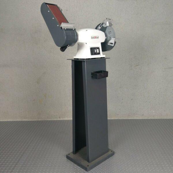 Bench-Grinder-Combo-METEX-200mm-Wheel-Linisher-Belt-Sander-with-Stand-Metal-Wood-272884320392
