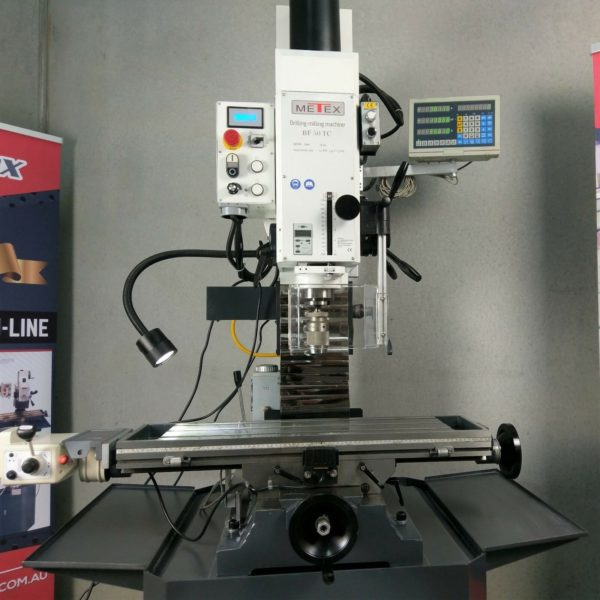 PRE-ORDER-BF50TC-Milling-Machine-METEX-by-OPTIMUM-DRO-Power-Feed-Tool-Changer-272536042242