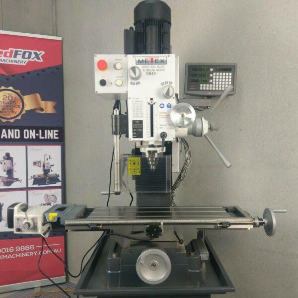 Geared-Head-Milling-Machine-METEX-DM45-POWER-DRO-240v-Drilling-Feed-281284827544