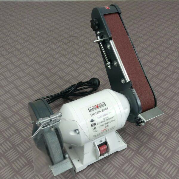 Bench-Grinder-Linisher-METEX-150mm-6-Sander-sanding-grinding-wheel-w-free-belt-281120534245