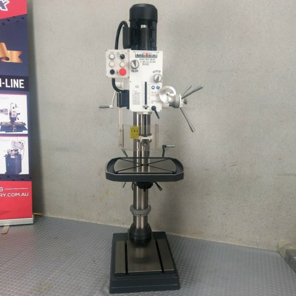 PRE-ORDER-Geared-Head-Pedestal-Drill-Press-Industrial-40mm-METEX-Tapping-Milling-282360367898