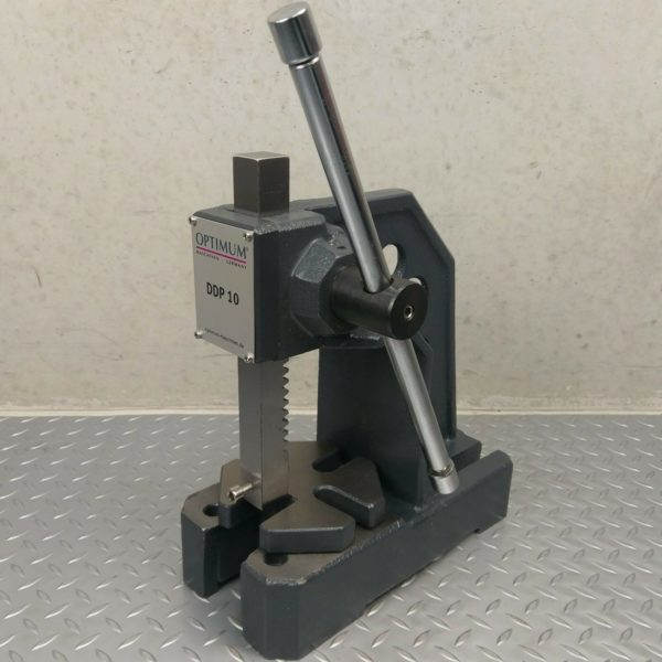 Arbor-Press-1-Ton-OPTIMUM-Precision-w-bore-hole-Bearing-Riveting-Staking-Punch-272571966429
